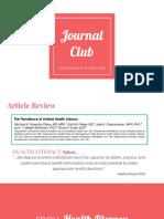 health literacy - hsci 660d journal club