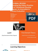 evaluating the policy-practice gap in transitional housing program- process evaluation 615 final point