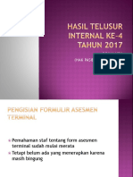 Hasil Telusur Internal Ke-4 2017