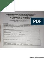 Inventário de Habilidades Sociais, Problemas de Comportamento e COmpetência Acadêmica Para Crianças (SSrS) Para PAIS - Crianças de 6 a 13 Anos.