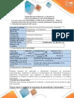 Guia de Actividades y Rubrica de Evaluacion - Paso 3- Evaluar Proyectos de Inversión y Tomar Decisiones Financieras (1)
