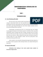 Sejarah Perkembangan Sosiologi Di Indonesia