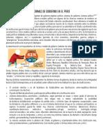 Formas de Gobierno en El Perú