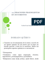 Alteraciones Fraudulentas en Documentos