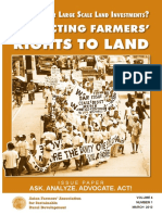 Land Grabs or Large Scale Land Investments? Protecting Farmers' Rights to Land