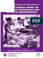 Small-Scale Farmers' Engagement with Private Enterprises: Towards Farmer-Owned or Farmer-Led Sustainable and Inclusive Arrangements