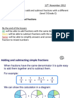 Adding and Subtracting Fractions Different Denominators