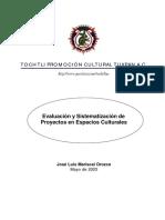Mariscal Orozco2003-Evaluacin y Sistematizacin de Proyectos en Espacios Culturales