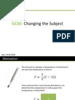 GCSE ChangingTheSubject