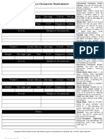 Firearms Worksheet