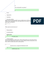 Plant Study Questions