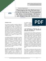 Material de Especialización - Fisiología de Los Esfuerzos Intermitentes y Prolongados de Alta Int