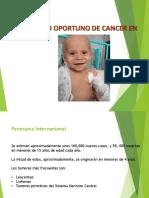 Diagnóstico oportuno de cáncer en niños