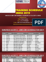 AWS CWI Training Schedule 2019