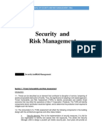 Security and Risk Management Example