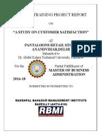 Rahul Rbmi Customer Satisfaction Pantaloon Final