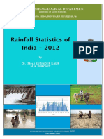 Rainfall Statistics of India - 2012