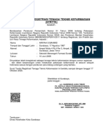 Surat Tanda Registrasi Tenaga Teknis Kefarmasian STRTTK