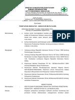 9.1.1 Ep2 Sk Penetapan Indikator Mutu Layanan Klinis