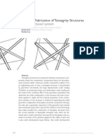 Design and Fabrication of Tensegrity Structures