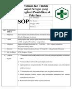8.7.3.3 SOP Evaluasi Dan Tindak Lanjut Petugas Yang Mengikuti Pendidikan & Pelatihan