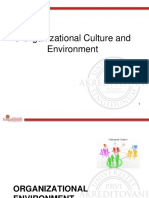 3 Organizational Culture and Environment