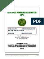 RPS MIHI Problem Ekonomi Politik Kontemporer