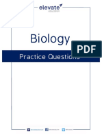 Elevate Biology Practice Questions