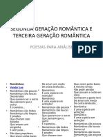 SEGUNDA GERAÇÃO ROMÂNTICA E TERCEIRA GERAÇÃO ROMÂNTICA.pptx