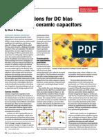 Design solutions for DC bias of multilayer ceramic capactiors (MLCCs)