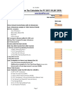 Income Tax Calculator FY 2017 18