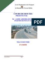cours tracé routier