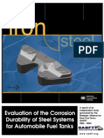 Evaluation of the Corrosion Durability of Steel Systems for Automobile Fuel Tanks