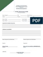 Home Visitation Form SHS