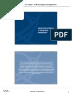 APQC-Knowledge Management Impact Measurement