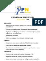 programa electoral 1946 PN