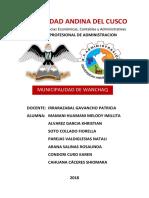 Administarción Publica Municipalidad Wanchaq Cusco - Perú