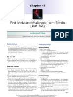 Cap 45 _ First Metatarsophalangeal Joint Sprain (Turf Toe)