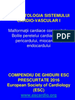 Cursul Nr. 8 - Sistemul CV I - MCC - Bolile Peretelui Cardiac