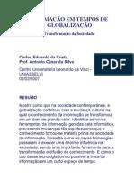 INFORMAÇÃO EM TEMPOS DE GLOBALIZAÇÃO
