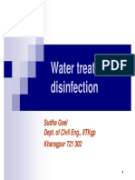 Ch4 Watertreatment Disinfection