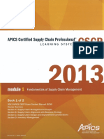 CSCP 1 Fundamentals of Supply Chain Management