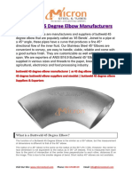 Buttweld 45 Degree Elbow Manufacturers