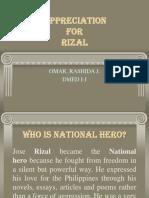 Appreciation Letter for Rizal