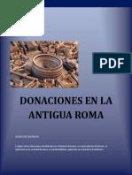 DONACIONES EN LA ANTIGUA ROMA