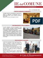 Notizie Dal Comune di Borgomanero del 23 Novembre 2018