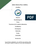 Tarea VI de Psicopatologia.
