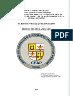 2018 Apostila Direito Militar Aplicado - Cfsd