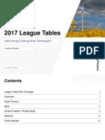 2017 Clean Energy EST League Tables