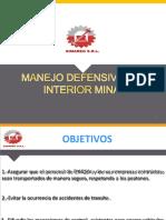 CHARLA N° 09   REGLAMENTO INTERNO DE TRANSITO MANEJO DEFENSIVO EN INTERIOR MINA
